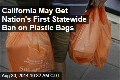 California May Get Nation's First Statewide Ban on Plastic Bags