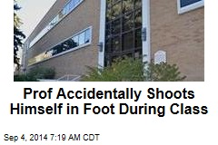 Prof Accidentally Shoots Himself in Foot During Class