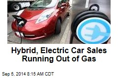 Hybrid, Electric Car Sales Running Out of Gas