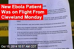 New Ebola Patient Was on Flight From Cleveland Monday