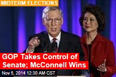 GOP Takes Control of Senate; McConnell Wins