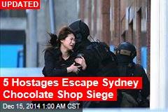 5 Hostages Escape Sydney Chocolate Shop Siege