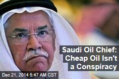 Saudi Oil Chief: Cheap Oil Isn't a Conspiracy