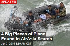 4 Big Pieces of Plane Found in AirAsia Search