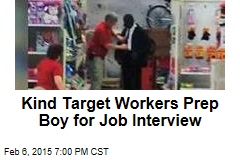 Kind Target Workers Prep Boy for Job Interview