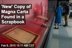 'New' Copy of Magna Carta Found in a Scrapbook