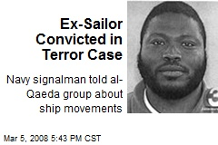 Ex-Sailor Convicted in Terror Case