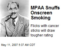 MPAA Snuffs Onscreen Smoking