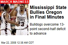 Mississippi State Bullies Oregon in Final Minutes