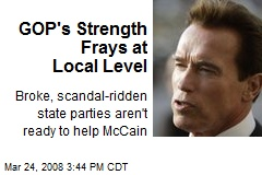 GOP's Strength Frays at Local Level