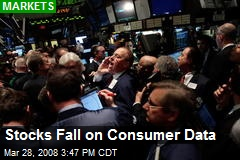 Stocks Fall on Consumer Data