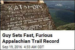 Guy Sets Fast, Furious Appalachian Trail Record
