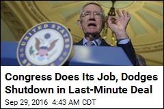 Congress Does Its Job, Dodges Shutdown in Last-Minute Deal