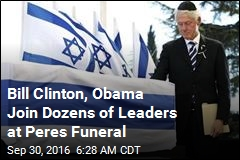 Bill Clinton, Obama Join Dozens of Leaders at Peres Funeral