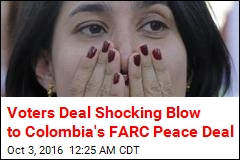 Voters Deal Shocking Blow to Colombia's FARC Peace Deal