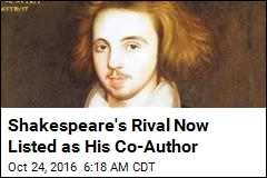 It's Official: Marlowe Listed as Shakespeare's Co-Author