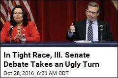 In Tight Race, Ill. Senate Debate Takes an Ugly Turn