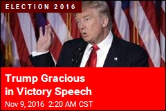 Trump Gracious in Victory Speech