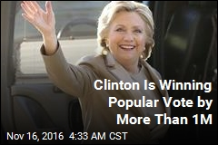 Clinton Is Winning Popular Vote by More Than 1M