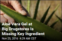 Aloe Vera Gel at Big Drugstores Is Missing Key Ingredient