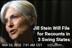 Jill Stein Will File for Recounts in 3 Swing States