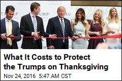 What It Costs to Protect the Trumps on Thanksgiving