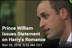 Prince William Issues Statement on Harry's Romance