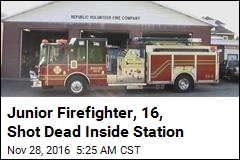 Junior Firefighter, 16, Shot Dead Inside Station