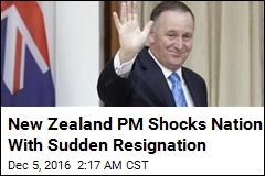New Zealand PM Shocks Nation With Sudden Resignation