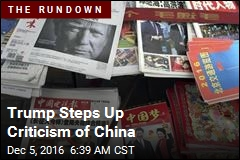 Trump Steps Up Criticism of China