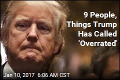 9 People, Things Trump Has Called 'Overrated'