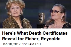 Here's What Death Certificates Reveal for Fisher, Reynolds