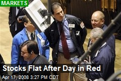 Stocks Flat After Day in Red