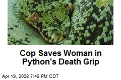 Cop Saves Woman in Python's Death Grip