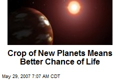 Crop of New Planets Means Better Chance of Life