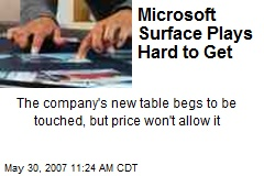 Microsoft Surface Plays Hard to Get