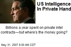 US Intelligence In Private Hands
