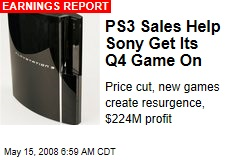 PS3 Sales Help Sony Get Its Q4 Game On