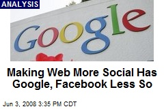 Making Web More Social Has Google, Facebook Less So