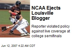 NCAA Ejects Louisville Blogger