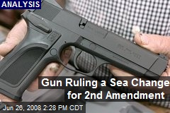 Gun Ruling a Sea Change for 2nd Amendment