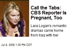 Call the Tabs: CBS Reporter Is Pregnant, Too
