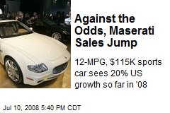 Against the Odds, Maserati Sales Jump