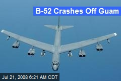 B-52 Crashes Off Guam