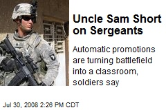 Uncle Sam Short on Sergeants