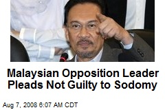 Malaysian Opposition Leader Pleads Not Guilty to Sodomy
