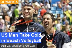 US Men Take Gold in Beach Volleyball