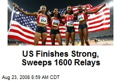 US Finishes Strong, Sweeps 1600 Relays