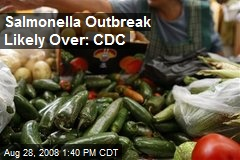 Salmonella Outbreak Likely Over: CDC