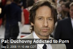 Pal: Duchovny Addicted to Porn. Web obsession prompted actor to enter rehab